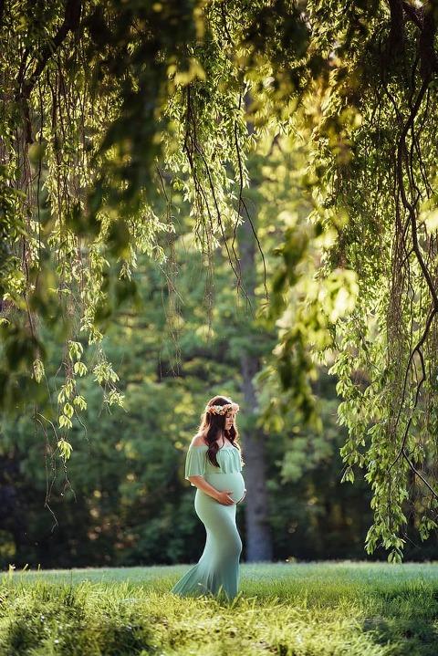 Skylands Manor Castle at NJ Botanical Gardens Maternity Session : Chelsea & Bryan